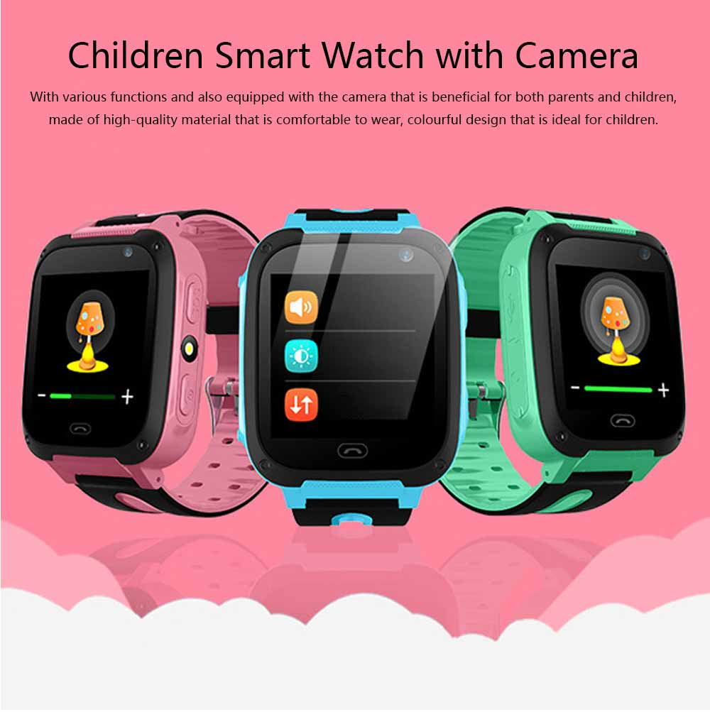 Children Kids Smart Watch with Camera, Touch Screen Watch Tracker SOS Call Multifunctional Digital Watch with Flash Light 0