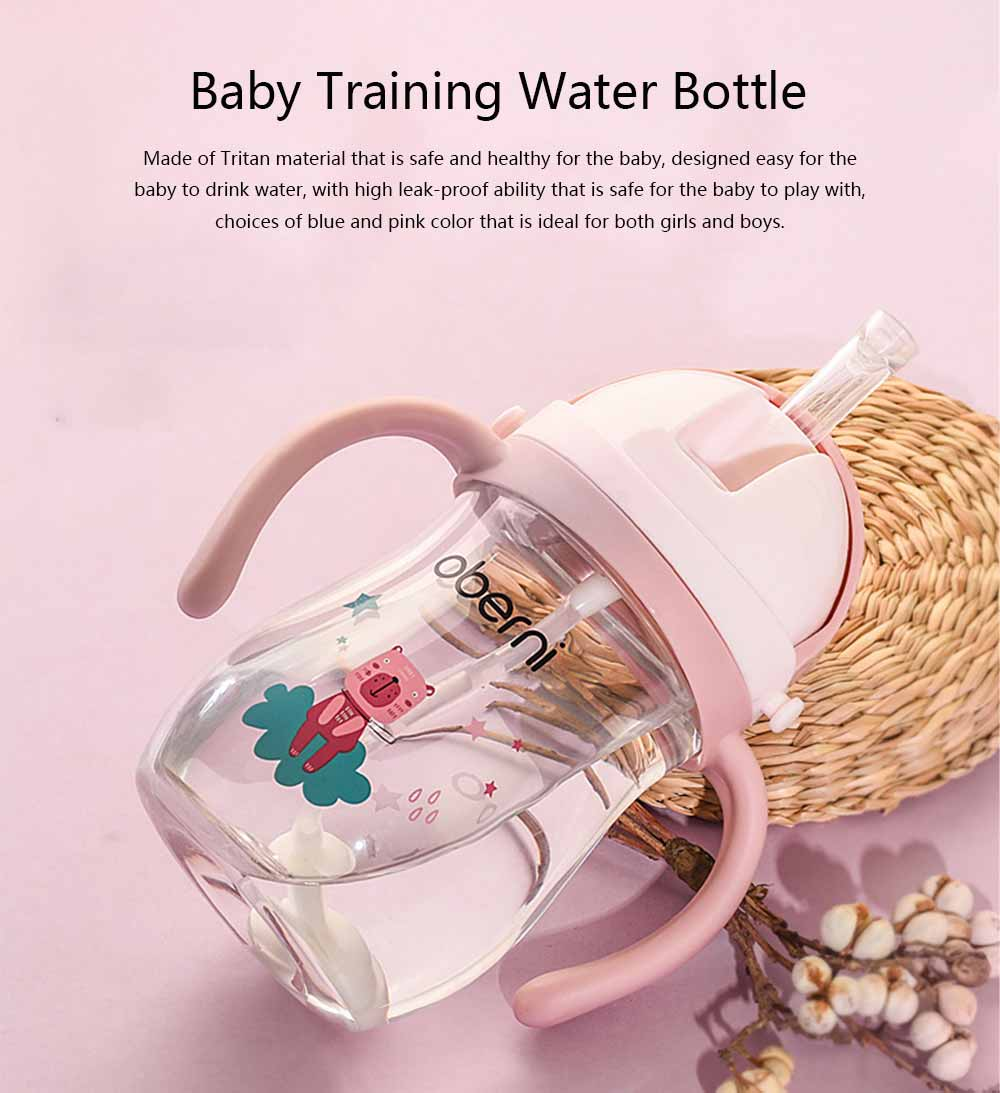 Baby Water Bottle with Straw for Children, Kids, Training Water Bottle for Infant Baby, Leak-proof Water Bottle with Handles 0