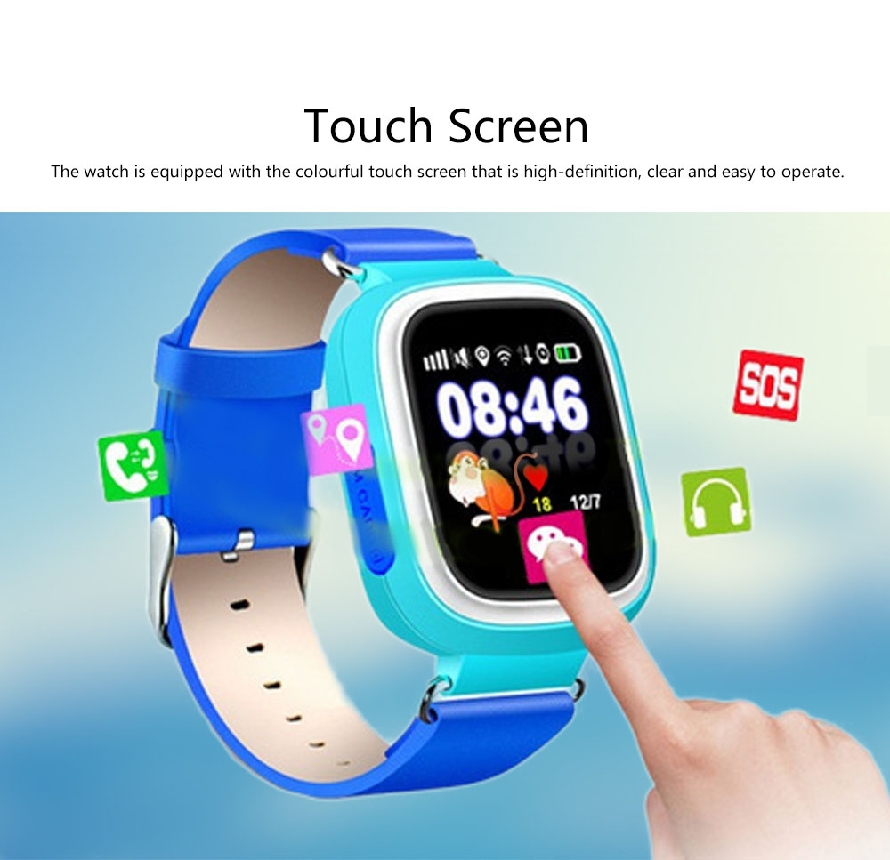 Children Kids Smart Watch, Touch Screen Watch Tracker, SOS Call Digital Multifunctional Watch for Boys Girls 1