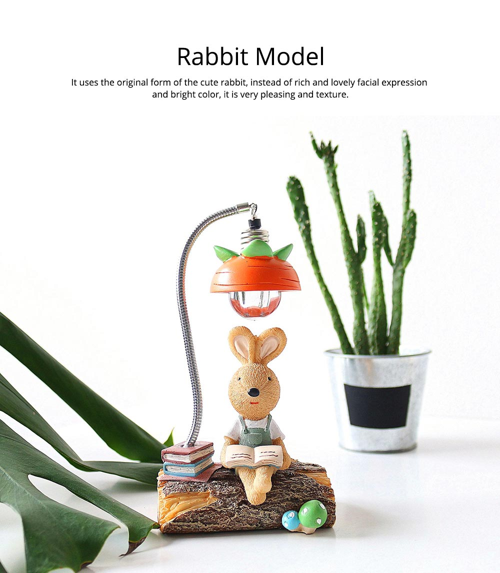 Little Pure Resin Rabbit Pen Container with Bright Color & Cute Face Expression for Crafts, Couple Gifts Rabbit Creative Decorations, Birthday Gifts 2
