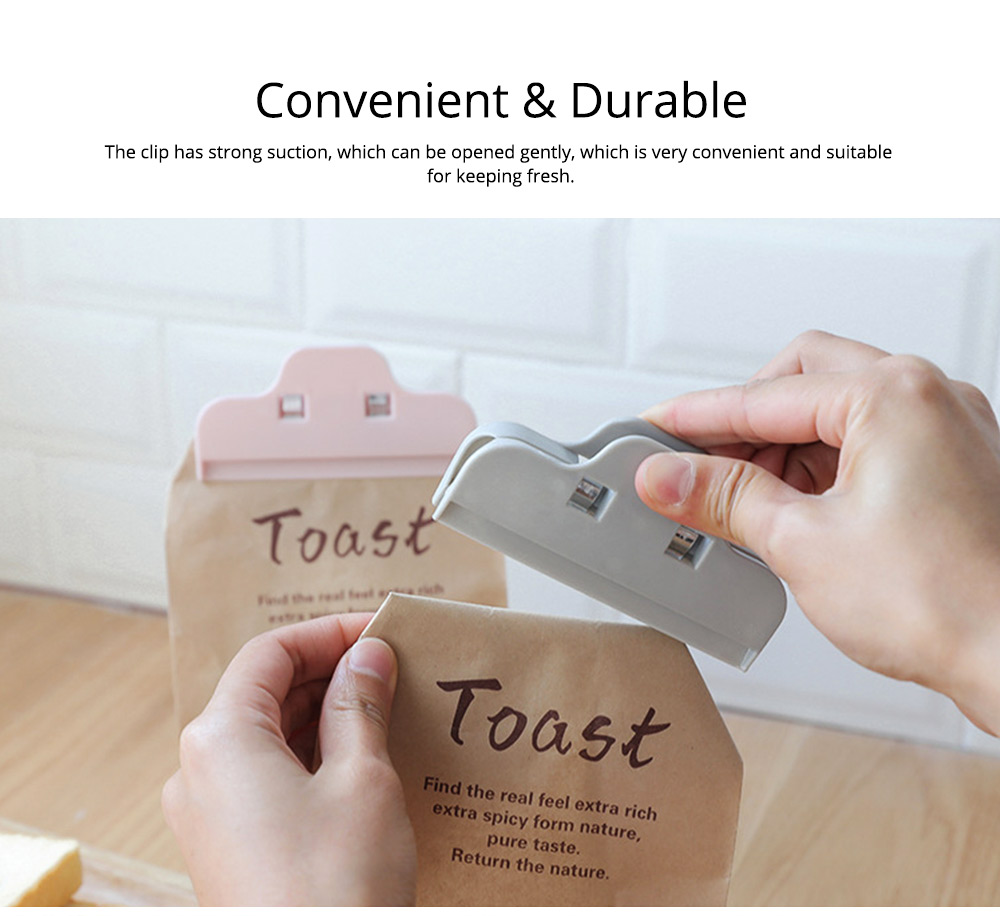 Multi-purpose Strong Plain Plastic Clip with Large Opening Design & Strong Spring for Snack Bags 6