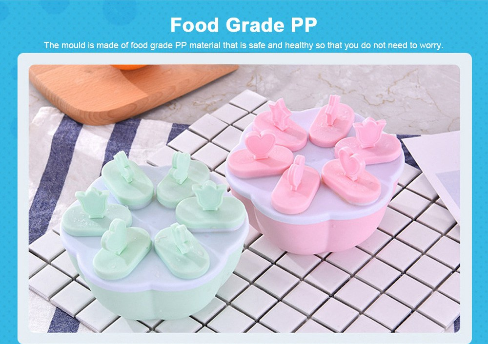 DIY Ice Cream Popsicles Mould Set, 6pcs 8pcs Homemade Ice Cream Set, DIY Safe Ice Cream Mold Maker Hollow Design 1