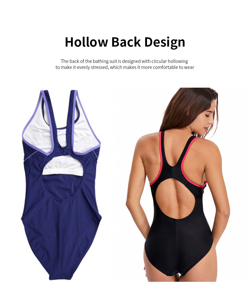 Bathing Suit Bikini for Women Europe and America Style Fashion Conservative Slim Fit One Piece Swimwear 2019 New 4