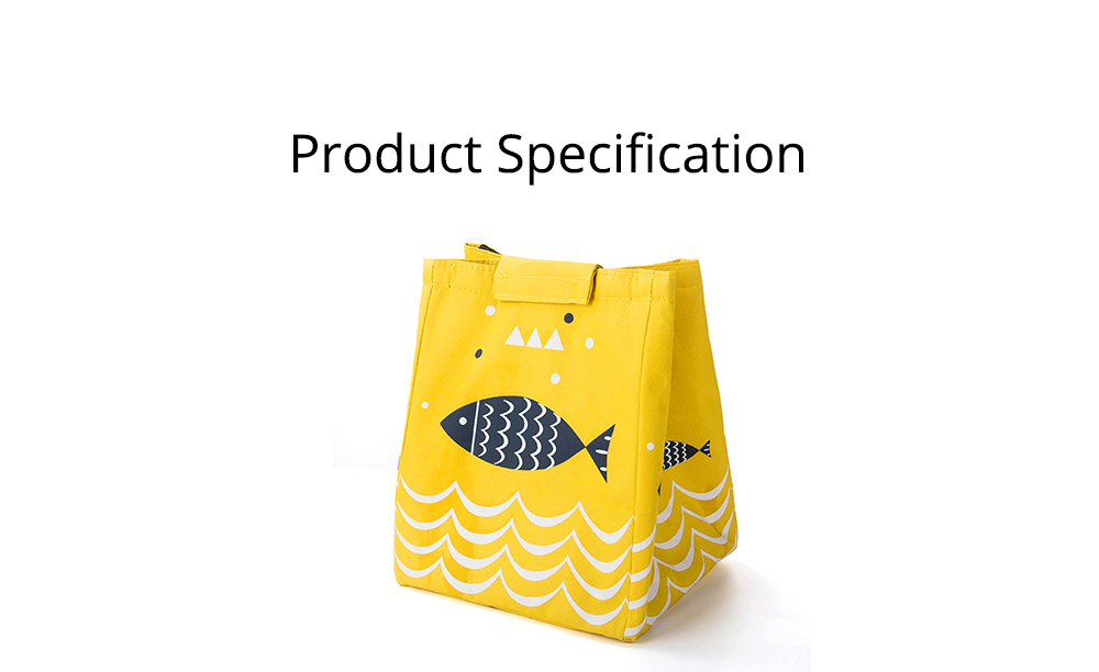 Waterproof Oxford Cloth to Bag Lunch Box Bag with Rice Bag with Heat Preservation & Large Capacity for Going to Work, School, Travel 6