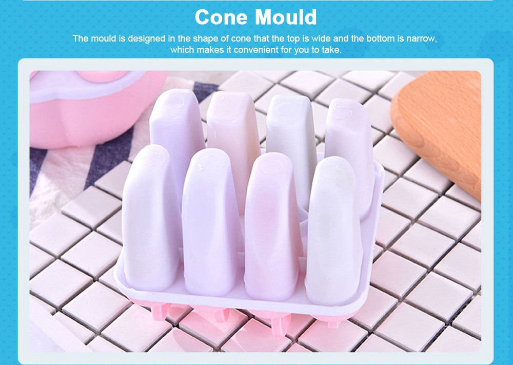 DIY Ice Cream Popsicles Mould Set, 6pcs 8pcs Homemade Ice Cream Set, DIY Safe Ice Cream Mold Maker Hollow Design 3