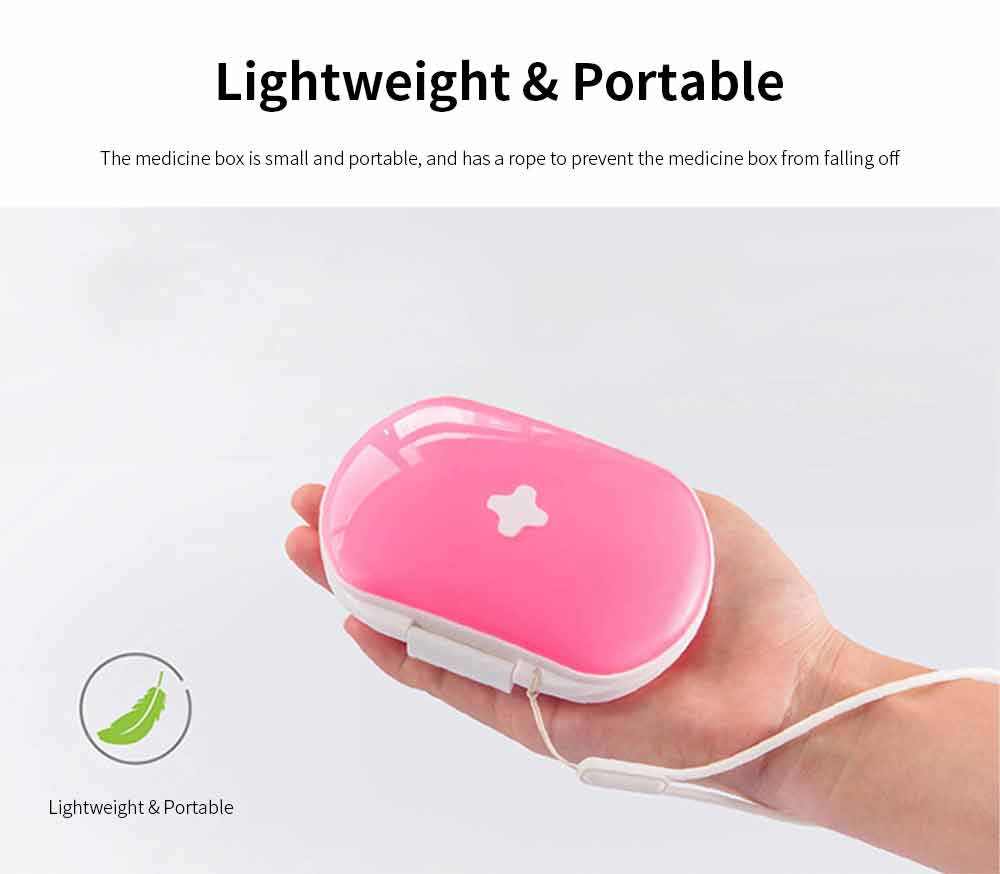 Mini Medicine Box Food Grade PP Portable 7 Days Compartments Sealing Waterproof Tablet Pill Organizer Customization 5
