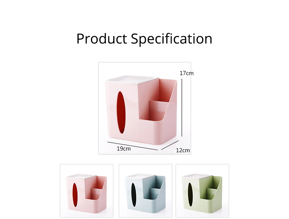 Multifunctional Tissue Box with Multiple Cell & Top Concave Design, Non-skid and Non-abrasive Bottom Pad Tissue Box 9