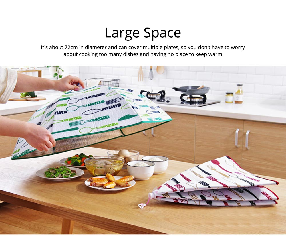 Umbrella Aluminum Foil Heat Preservation Food Cover with Aluminum Foil Layer for Dust Insulation & Convenient Daily Diet 5