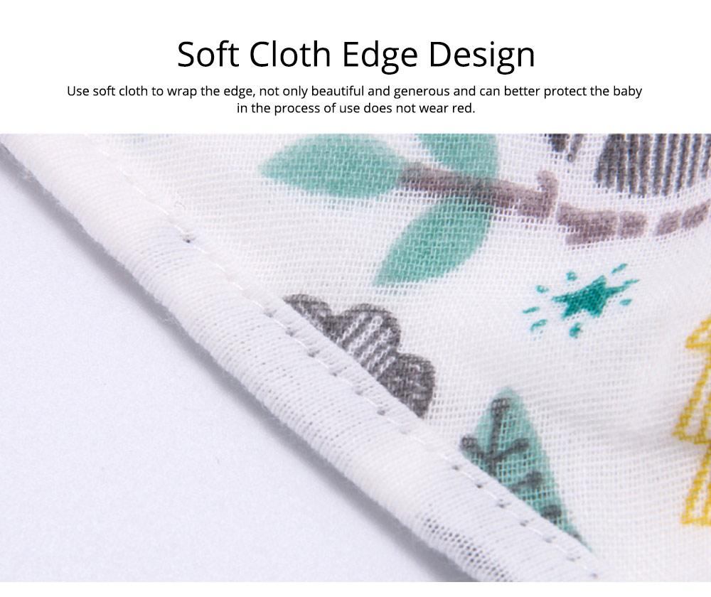 Baby Cotton Gauze Saliva Towel with Dark Buckle Design & Ultra-soft Bag Edge Design, Baby Bib with Cute Cartoon Design 5