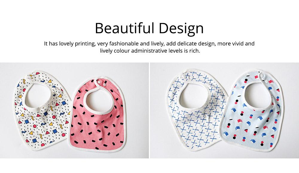 Baby Cotton Gauze Saliva U-Towel with Snap Fastener and Ultra-soft Bag Edge, Cute Cartoon Design Baby Bib 6