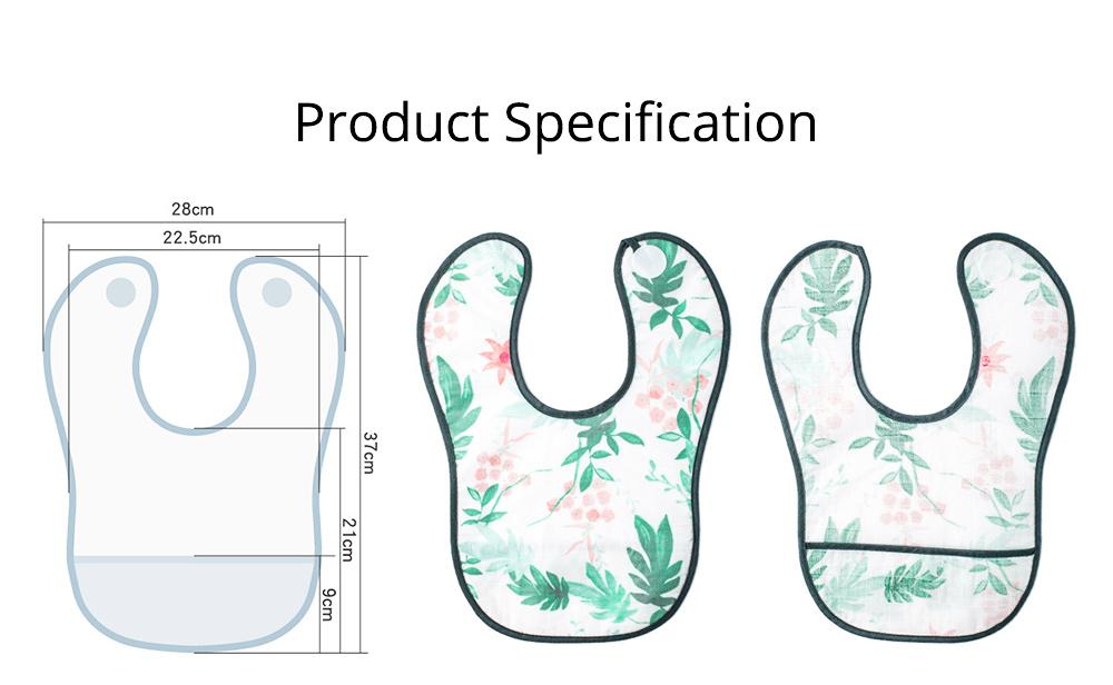 Waterproof & Anti-fouling Baby Bib with Large Capacity Rice Pocket & Velcro Design Baby Bib 10