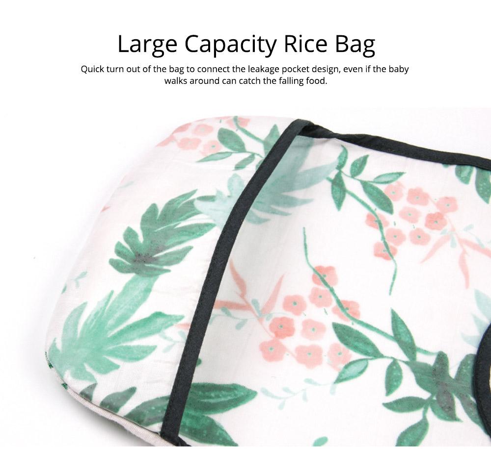Waterproof & Anti-fouling Baby Bib with Large Capacity Rice Pocket & Velcro Design Baby Bib 4