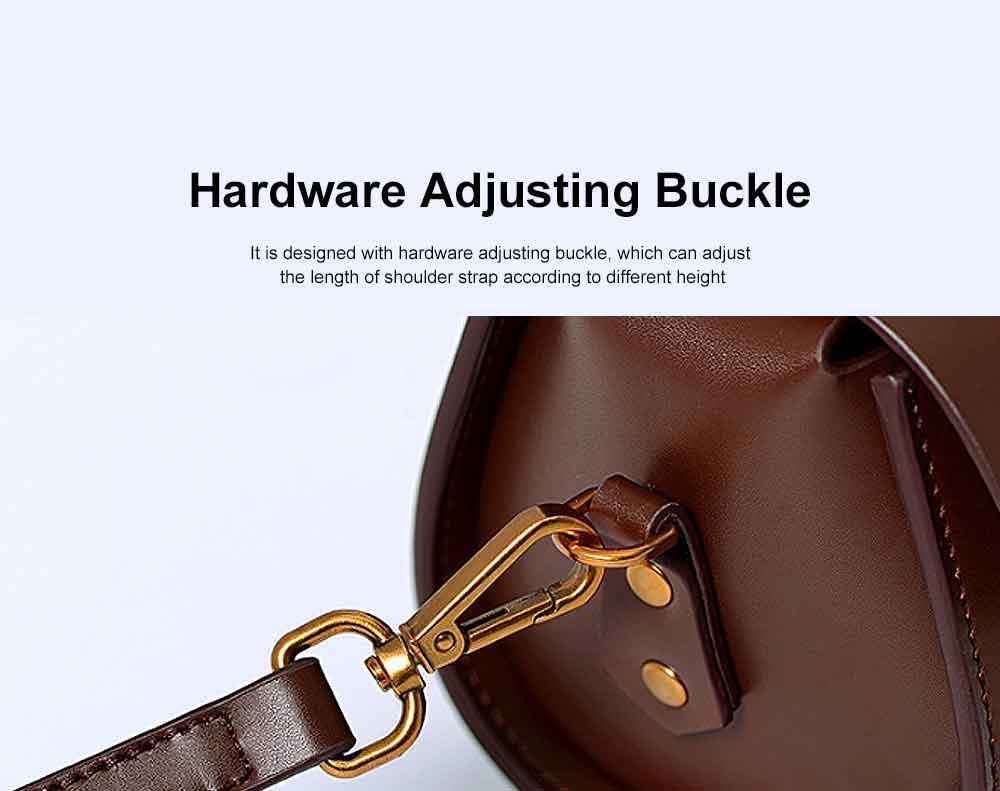 Women's Shoulder Bag Leather Handbag with Hardware Adjusting Buckle Holding Cards, Cash, Coins Crossbody Bag 2