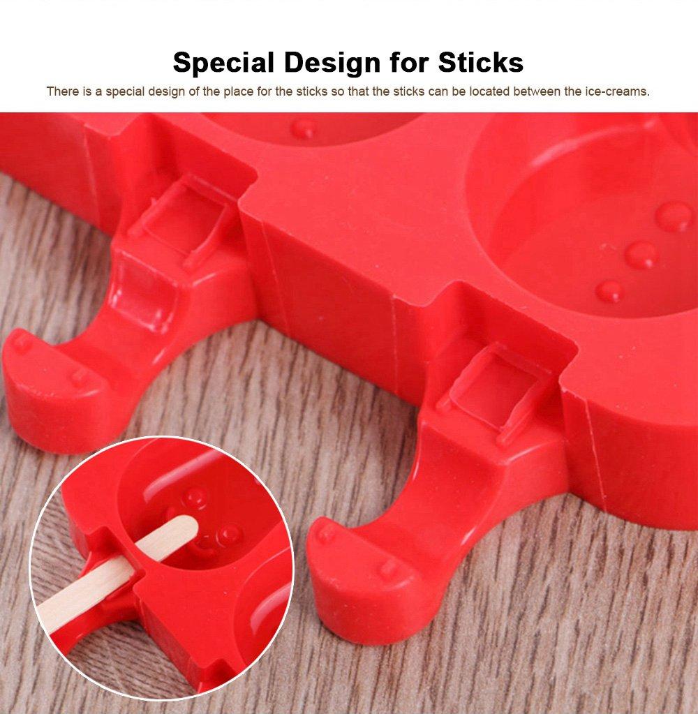 Silicone DIY Cartoon Ice Cream Mould, Popsicles Mould Set, 2pcs 3pcs Homemade Ice Cream Set, DIY Ice Cream Mold Maker 3