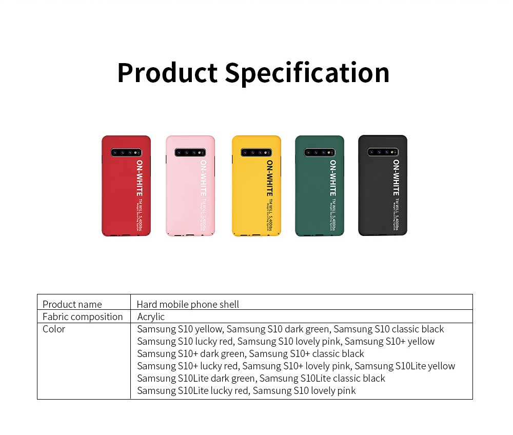 Mobile Phone Shell, Cover Case For Samsung S10, S10 plus Phone Case For Samsung Galaxy S10 Lite, Galaxy S10 + Hard Shell Protective Back Cover 8