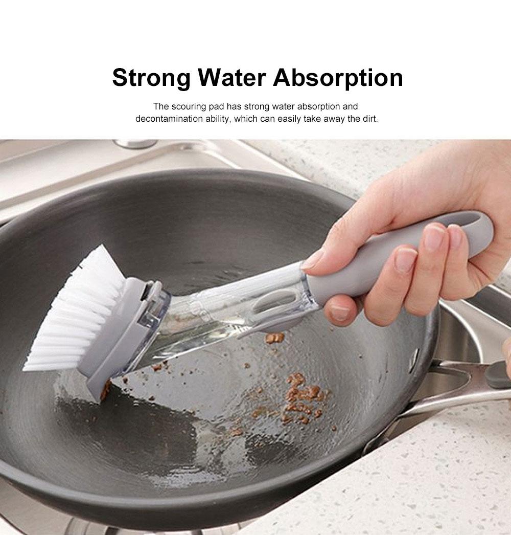 Household Kitchen Long Handle Brush, Cleaning Brush for Washing Pot, Automatic Dosing Decontamination Brush 1