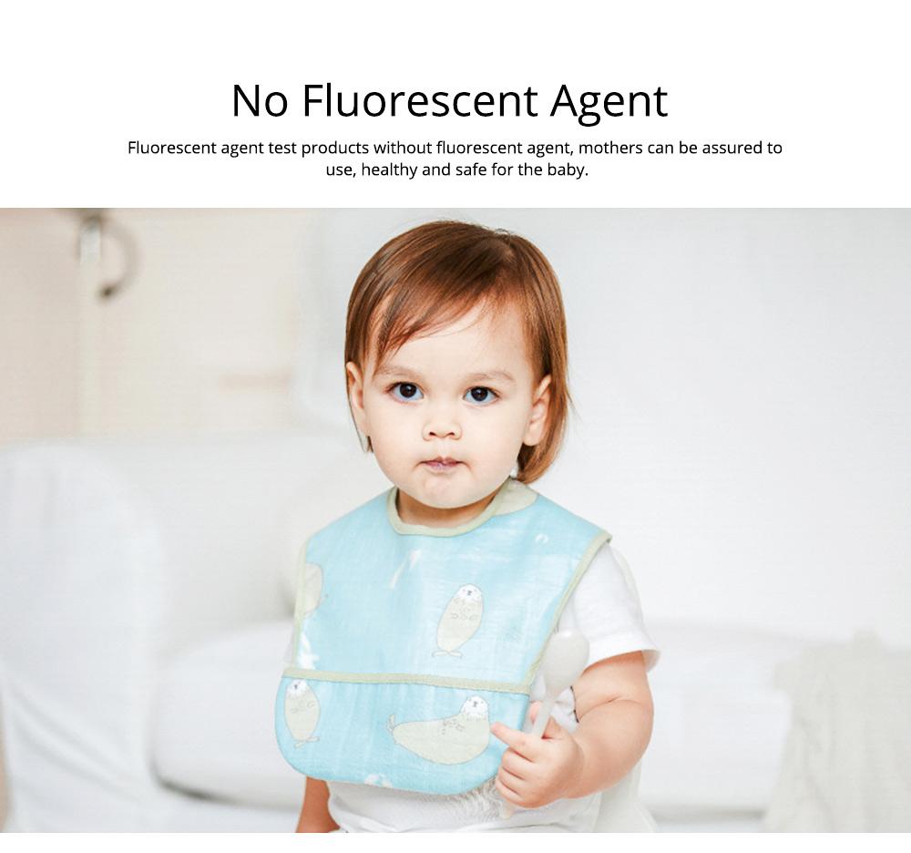 Waterproof & Anti-fouling Baby Bib with Large Capacity Rice Pocket & Velcro Design Baby Bib 7