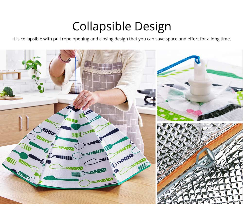 Umbrella Aluminum Foil Heat Preservation Food Cover with Aluminum Foil Layer for Dust Insulation & Convenient Daily Diet 2