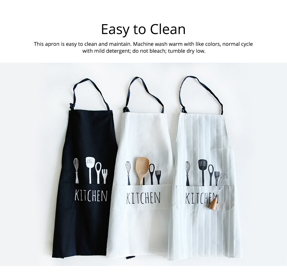 Creative Cotton Cutlery Pattern Apron with Adjustable 3 Pockets Design for Professional for BBQ, Baking, Cooking for Men & Women 6