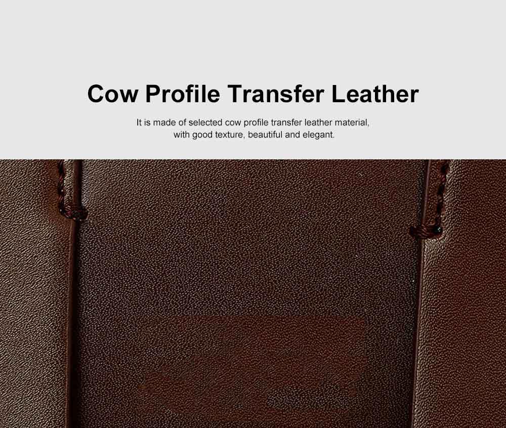 Women's Shoulder Bag Leather Handbag with Hardware Adjusting Buckle Holding Cards, Cash, Coins Crossbody Bag 5
