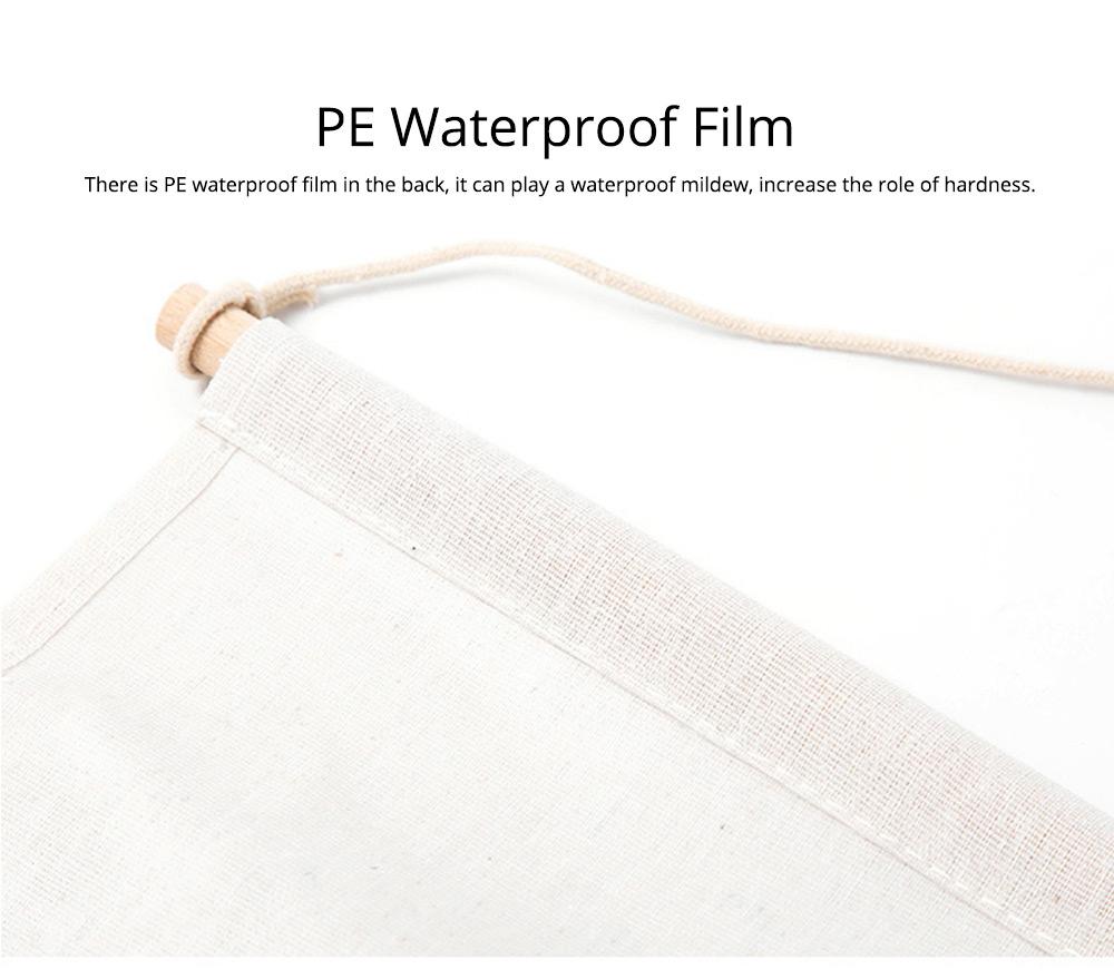 Printed Multiple Pocket Hanging Bag Wall Hanging Bag with Wooden Stick & Cotton Rope Design Storage Bag 4