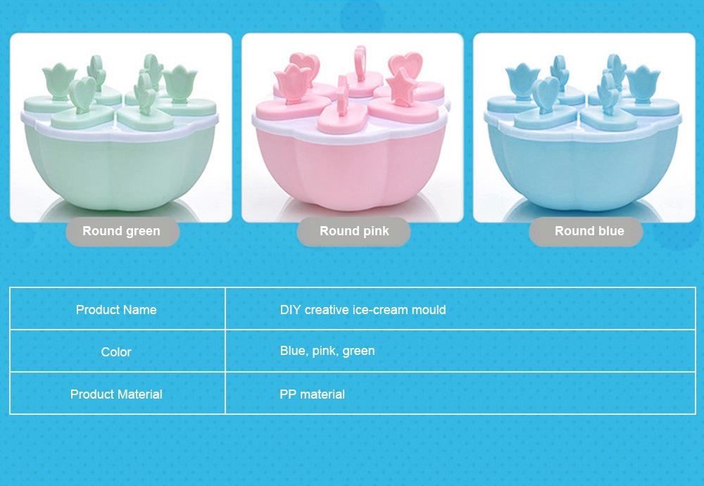 DIY Ice Cream Popsicles Mould Set, 6pcs 8pcs Homemade Ice Cream Set, DIY Safe Ice Cream Mold Maker Hollow Design 7