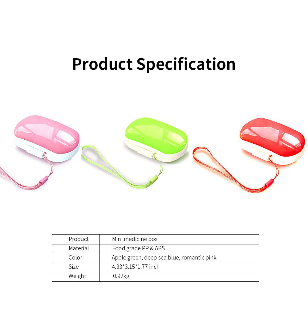 Mini Medicine Box Food Grade PP Portable 7 Days Compartments Sealing Waterproof Tablet Pill Organizer Customization 6