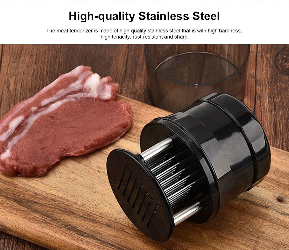 56 Tenderloin Needles Sharp Stainless Steel Meat Tenderizer, Meat Tenderizer Tool with Safe Cover Case, Steak needle Meat Hammer Broken knives 1