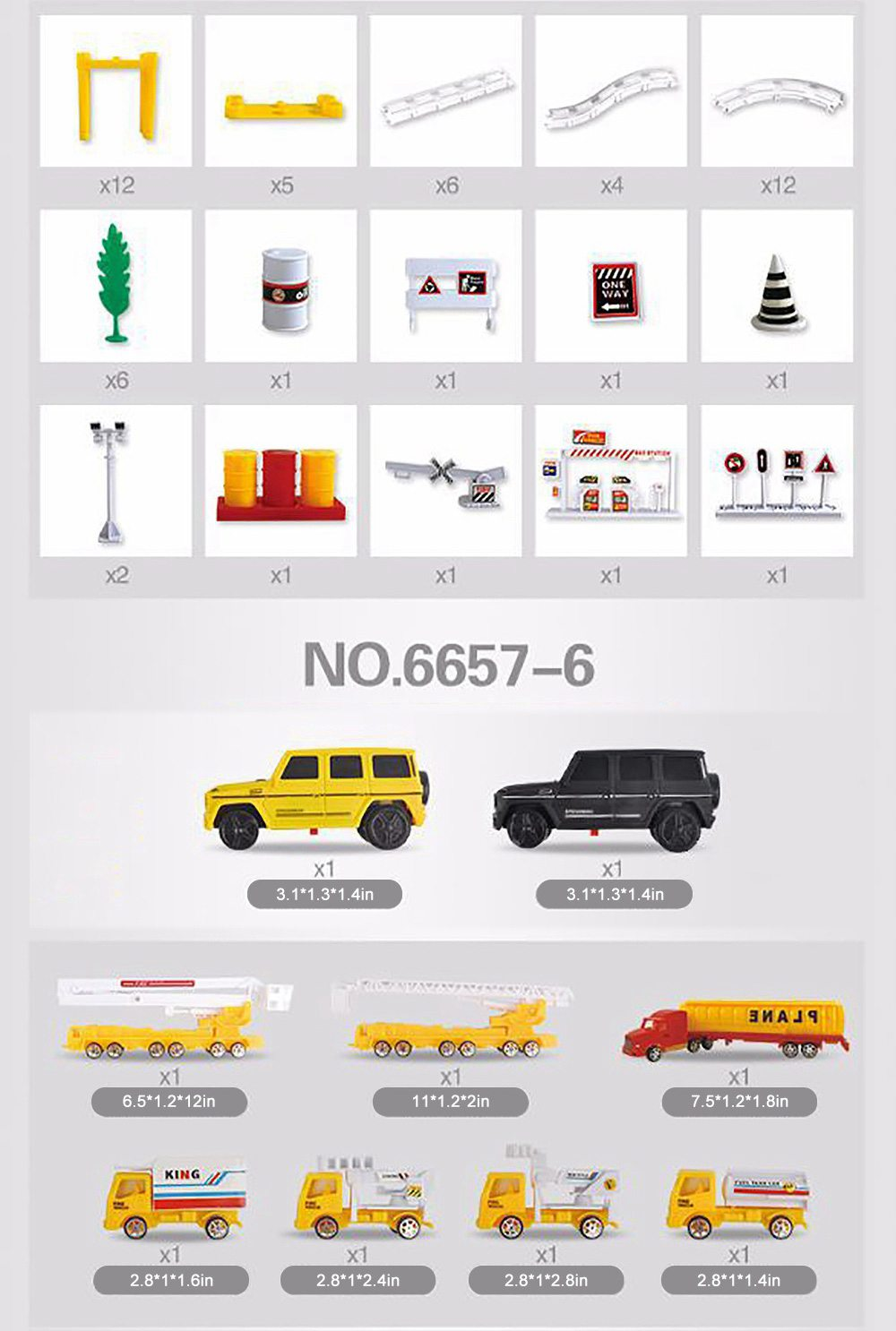 Simulation Model Police Car for Children & Kids, Electric Rail Car Toy Hovering Car Rail Track for 4 – 6 Years Old Boy, Engineering Series Toy 9