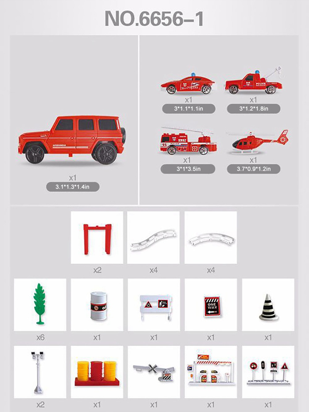 Simulation Model Fire Fight Truck for Children & Kids, Electric Motor Car Toy for 3 Years Old Track Fire Fight Series 8