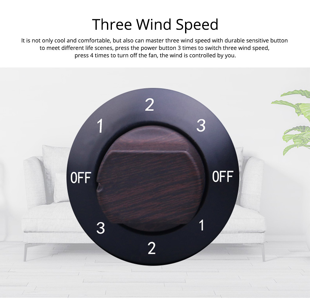 Non-USB Mini Desktop Fan with Three Adjustable Wind Speed, Desktop Student Dormitory Bed Quiet Office 2