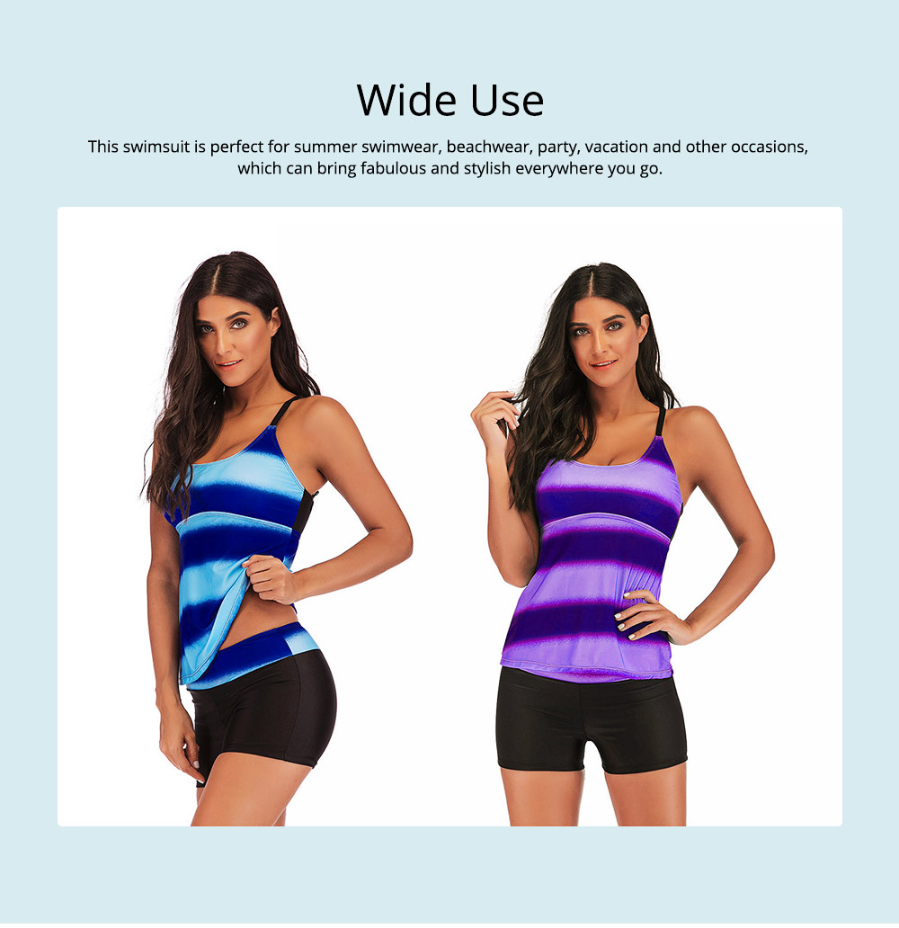 Full-size Flounce Swimsuit Digital Print Fission Swimsuit Slimming, Straps Slimming Swimsuit with Various Style 5