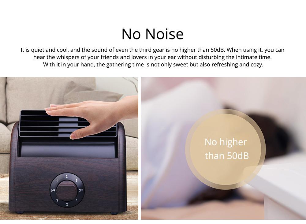 Non-USB Mini Desktop Fan with Three Adjustable Wind Speed, Desktop Student Dormitory Bed Quiet Office 3