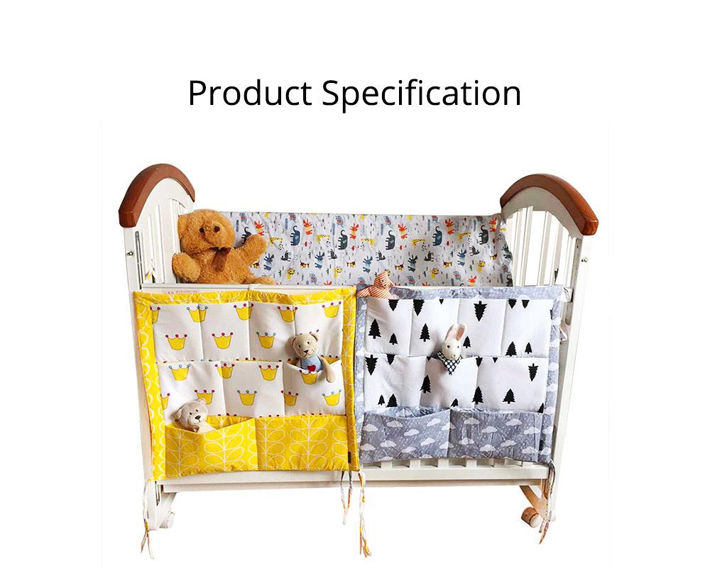 Multi-layer Cotton Cot Storage Bag Cartoon Multi-function Bed Baby Diaper Storage Bag 6