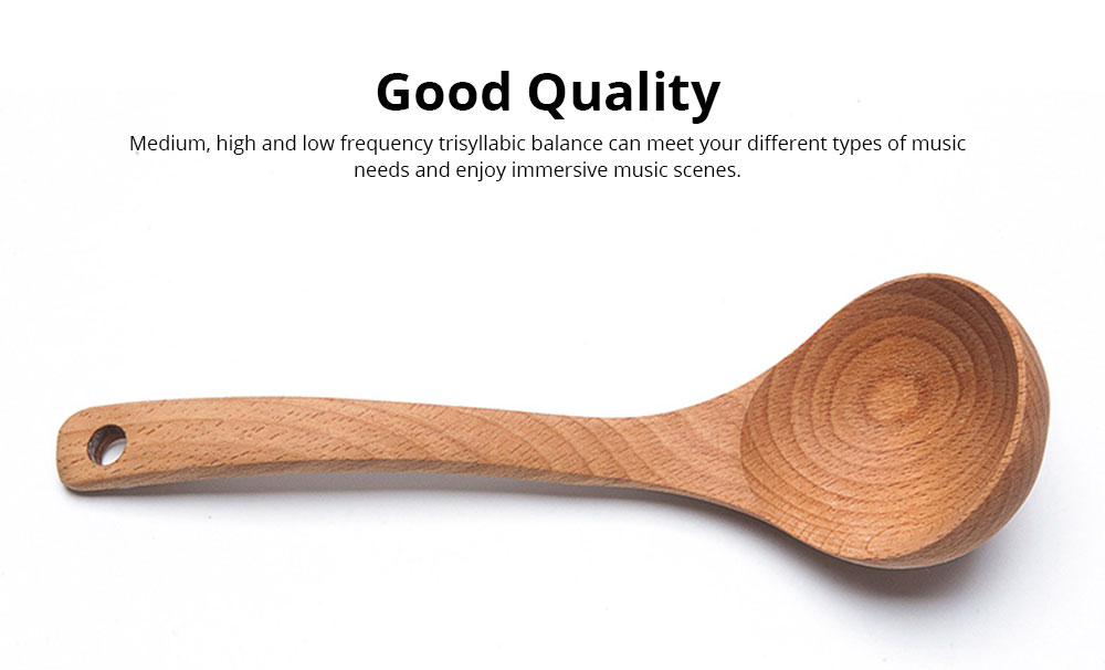 Spoons Unpainted Solid Wood Long Handle Household Wooden Spoon Fashion Kitchen Accessories Deepen Large Soup Spoon 4