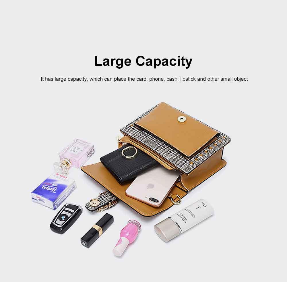 Contrast Color Small Square Bag, Fashion Handbag Shoulder Slung Bag for Female, Summer 2019 5