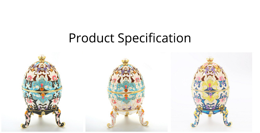 Diamond-inlaid Large-sized Colored Eggs for Jewelry Boxes, Luxury Ornaments, Metal Crafts Gifts 6