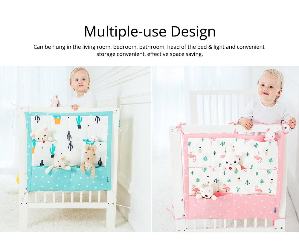 Multi-layer Cotton Cot Storage Bag Cartoon Multi-function Bed Baby Diaper Storage Bag 2