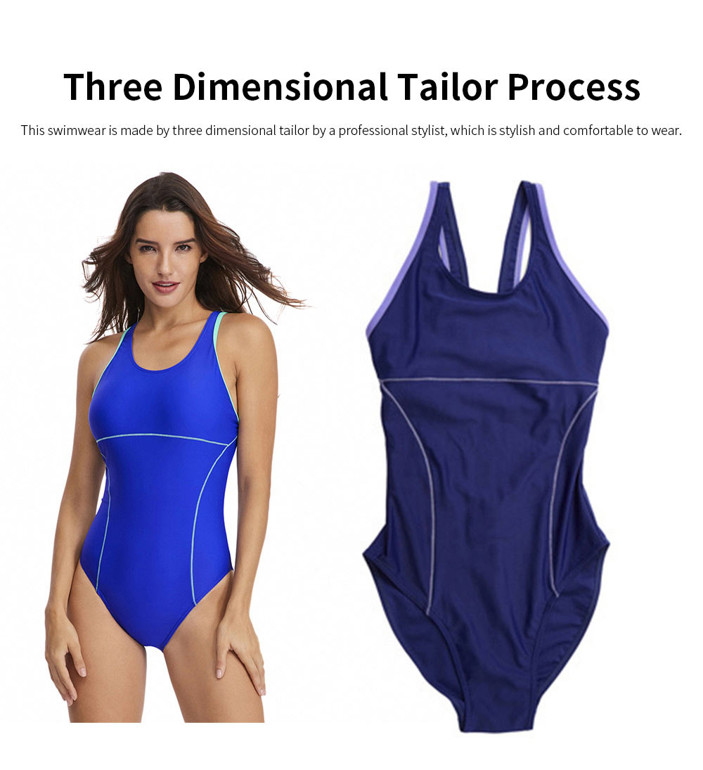 Bathing Suit Bikini for Women Europe and America Style Fashion Conservative Slim Fit One Piece Swimwear 2019 New 3