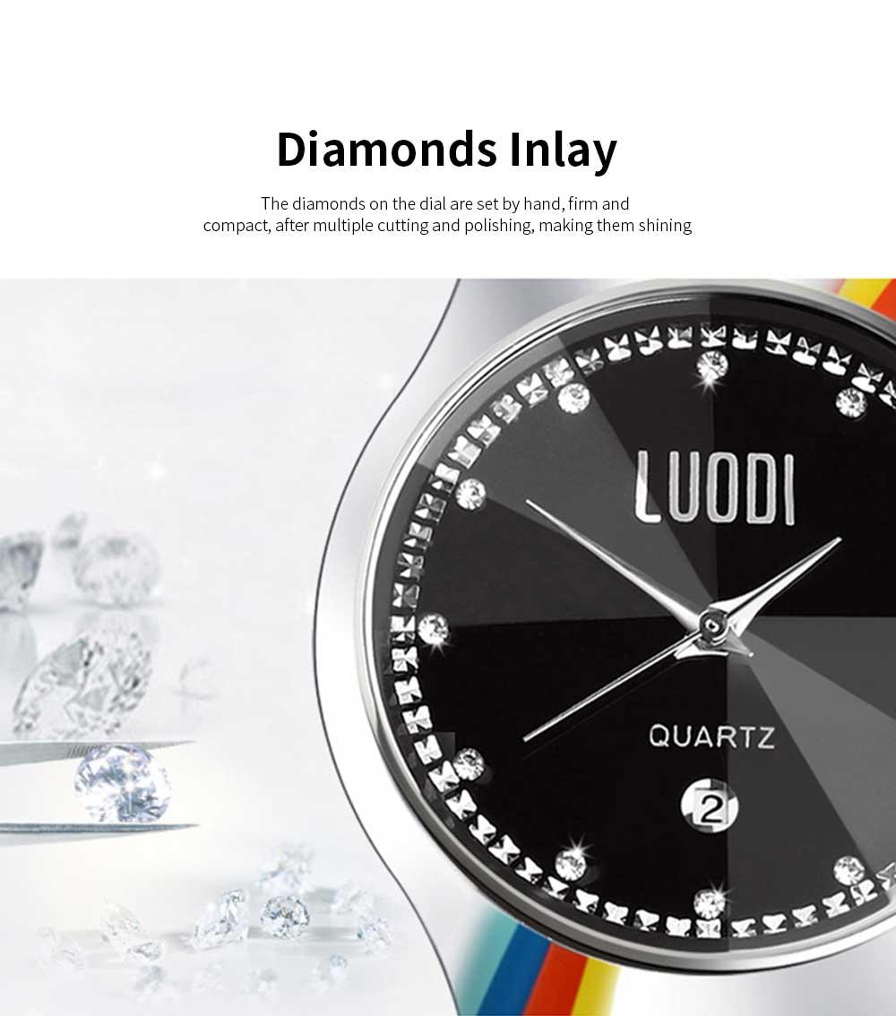 Tungsten Steel Watch for Men Fashion Cool Black Quartz Movement Waterproof 3D Watch Case WristWatch Stylish Couple Watches 3