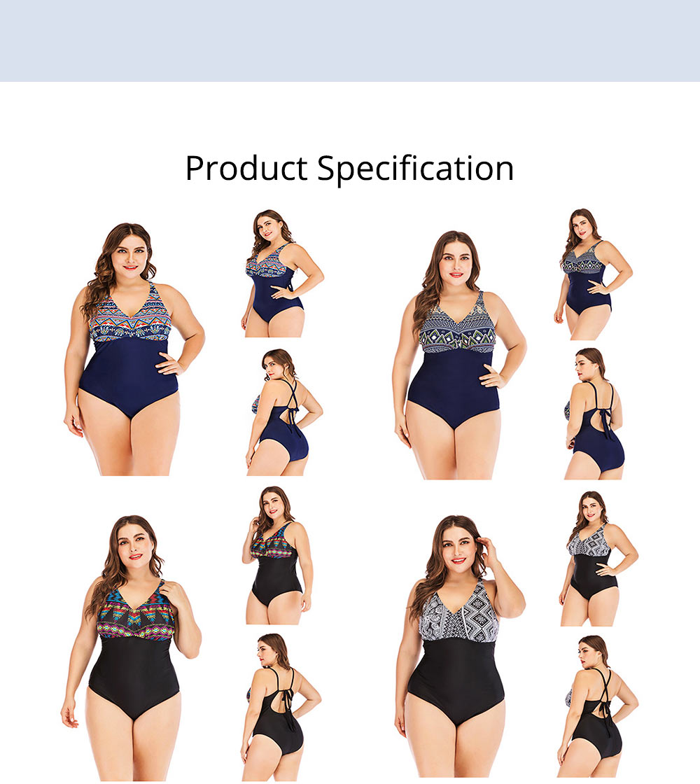 Full-size Flounce Swimsuit Digital Print One-piece Slimming, Straps Slimming Swimsuit with Various Style 7