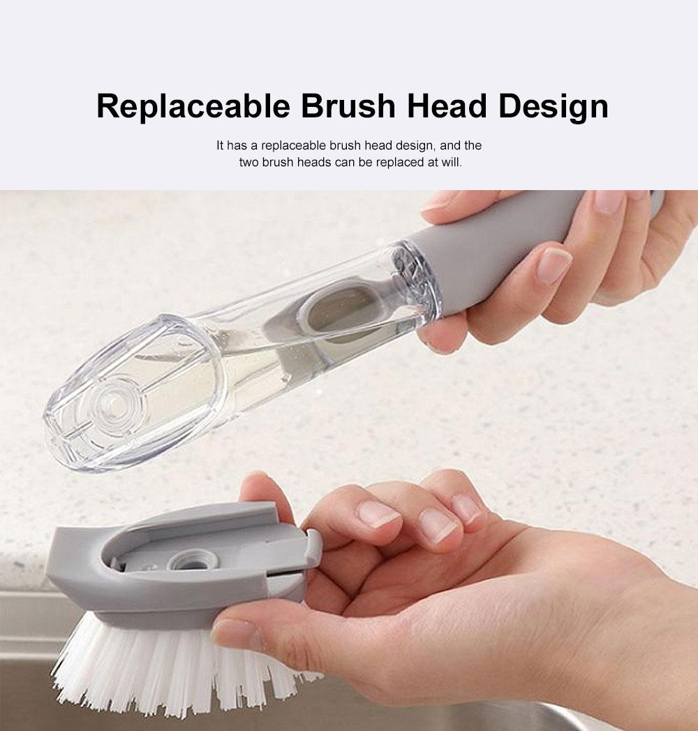 Household Kitchen Long Handle Brush, Cleaning Brush for Washing Pot, Automatic Dosing Decontamination Brush 2
