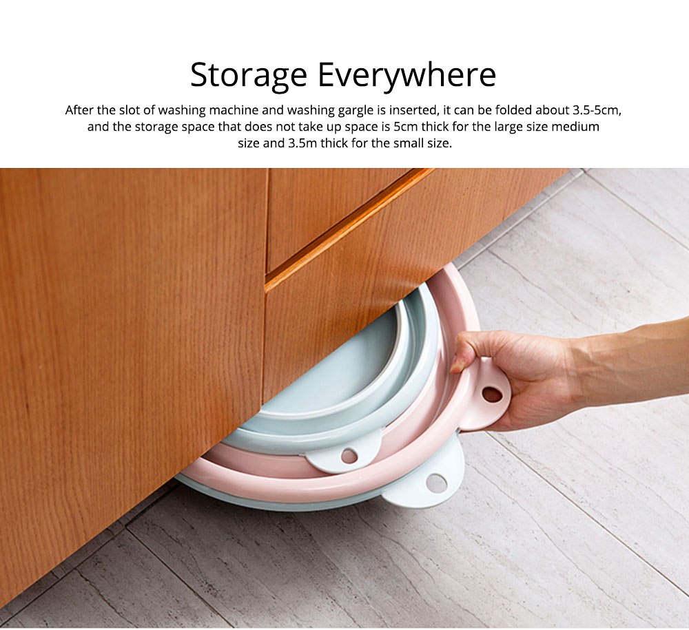 Portable Collapsible Washbasin with Anti-skid bottom Design for Easy Travel & Space-saving Washbasin with Hanging Hole 7