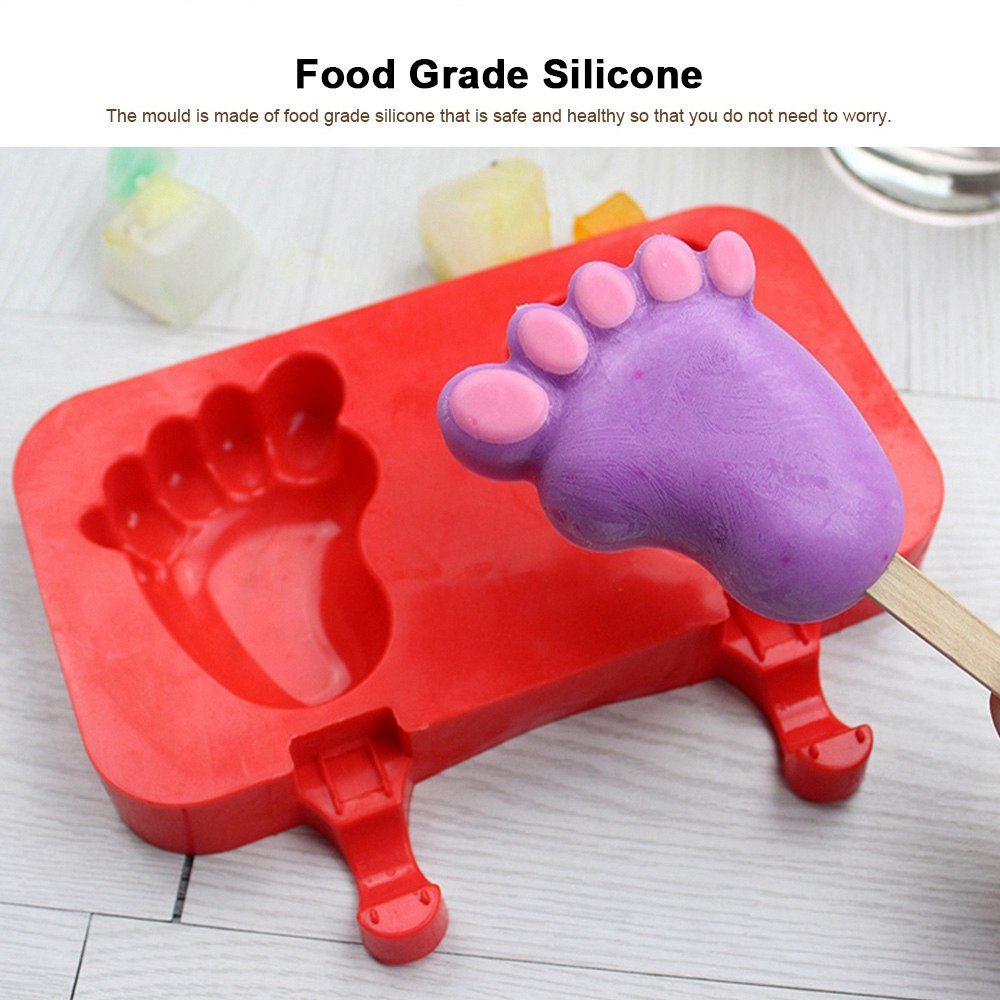 Silicone DIY Cartoon Ice Cream Mould, Popsicles Mould Set, 2pcs 3pcs Homemade Ice Cream Set, DIY Ice Cream Mold Maker 1
