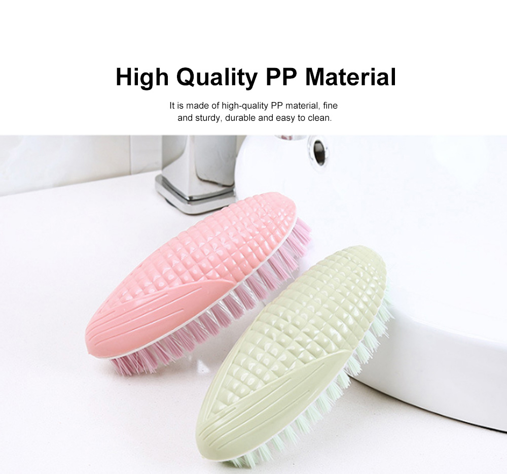 Creative Corn Plastic Brush, Multifunctional Brush for Washing Clothes, 3 packs Household Soft Wool Cleaning Brush 1