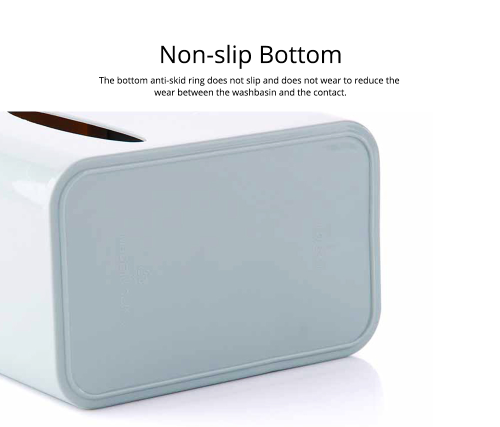 Multifunctional Tissue Box with Multiple Cell & Top Concave Design, Non-skid and Non-abrasive Bottom Pad Tissue Box 3