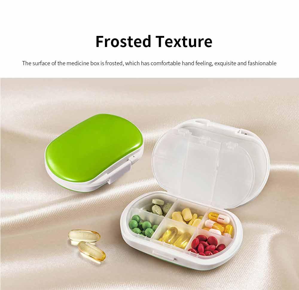 Mini Medicine Box Food Grade PP Portable 7 Days Compartments Sealing Waterproof Tablet Pill Organizer Customization 3