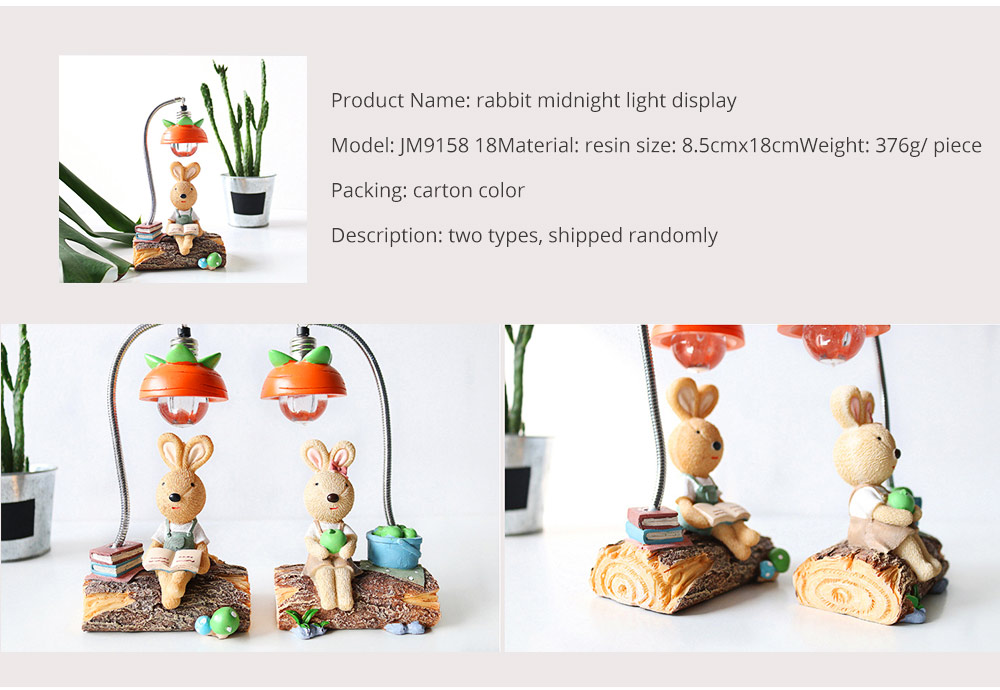 Little Pure Resin Rabbit Pen Container with Bright Color & Cute Face Expression for Crafts, Couple Gifts Rabbit Creative Decorations, Birthday Gifts 8