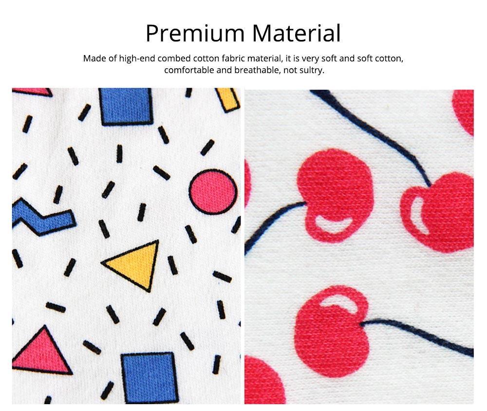 Baby Cotton Gauze Saliva U-Towel with Snap Fastener and Ultra-soft Bag Edge, Cute Cartoon Design Baby Bib 2