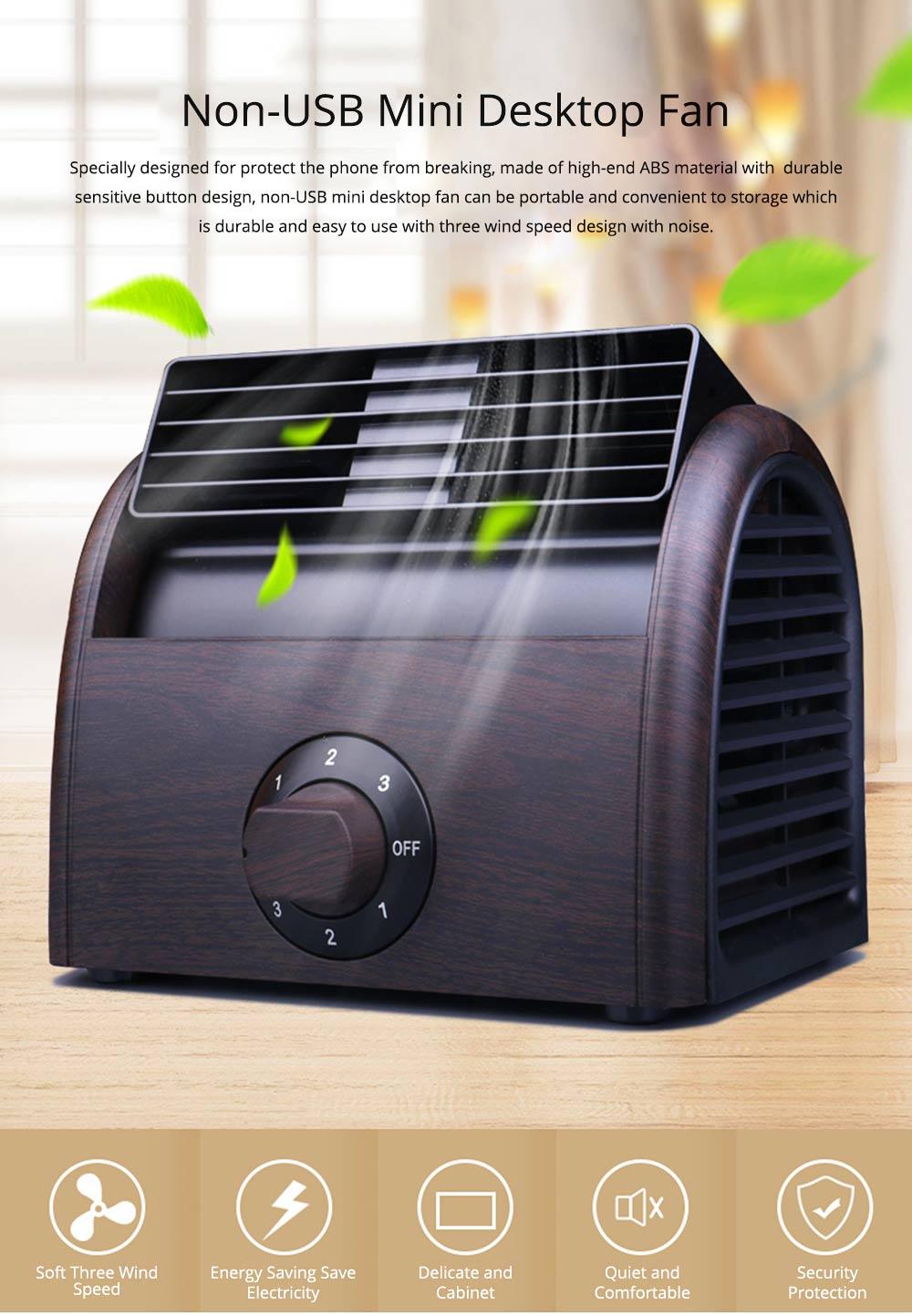 Non-USB Mini Desktop Fan with Three Adjustable Wind Speed, Desktop Student Dormitory Bed Quiet Office 0